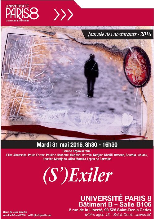 Affiche JDD 2016 (S')Exiler